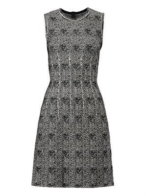 Mouchette spot-print sleeveless dress