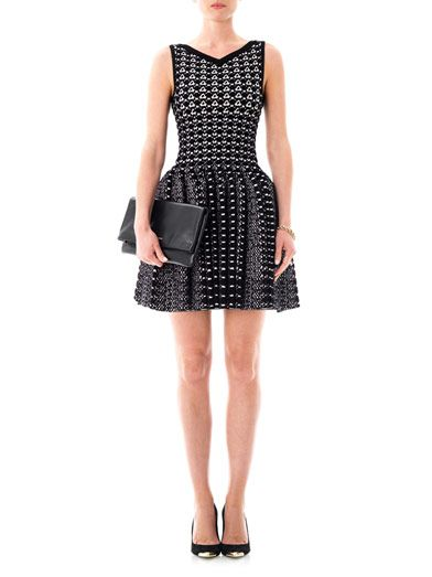 Azzedine Alaïa Snake knitted bi-colour dress