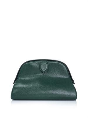 Half-moon leather clutch