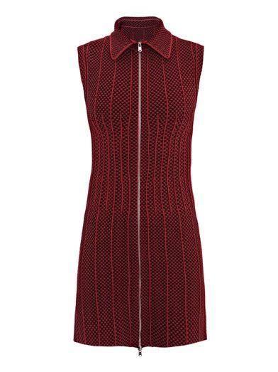 Azzedine Alaïa Ecaille bi-colour dress