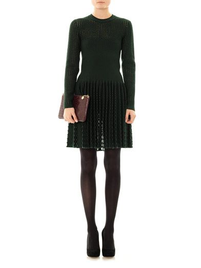 Azzedine Alaïa Entrelacs hole-punched dress