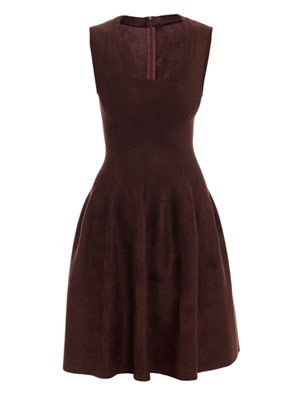 Velvet square-neck dress