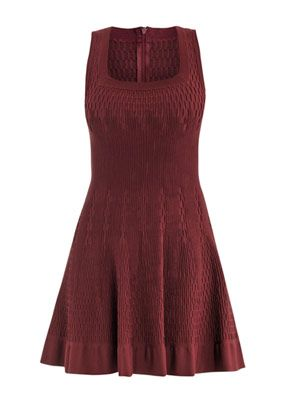 Smock square-neck dress