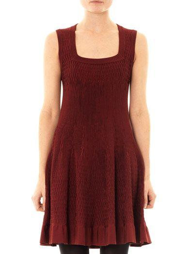 Azzedine Alaïa Smock square-neck dress