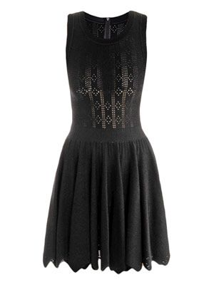 Mantile perforated zigzag dress