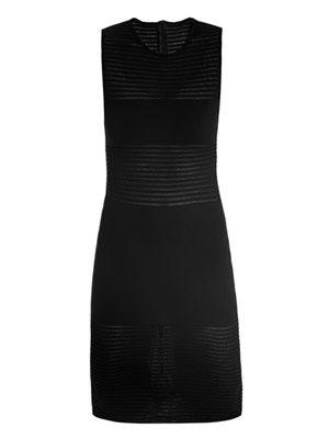 Danae sheer-panel dress