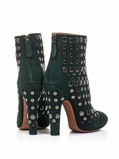 Azzedine Alaïa Studded suede ankle boots