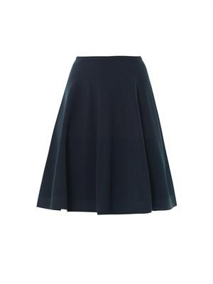 Flesh full skater skirt