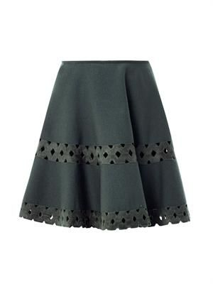 Macramé cut out skater skirt