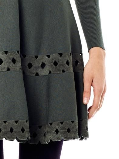 Azzedine Alaïa Macramé cut out skater skirt