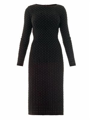 Pois luxe straight dress