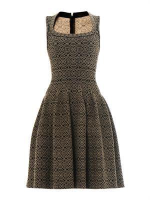 Gaia arabesque scoop-neck dress