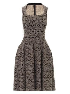Gaia arabesque scoop-neck dress
