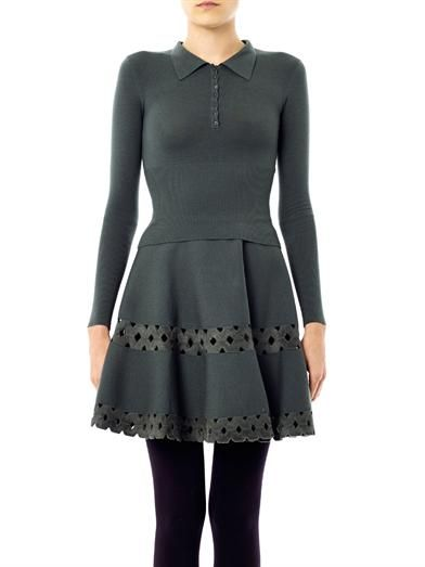Azzedine Alaïa Cropped fitted sweater