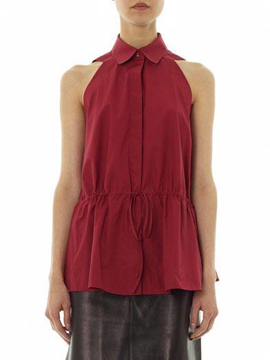 Azzedine Alaïa Tie waist sleeveless shirt