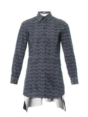 Vienne Feston laser-cut cotton shirt