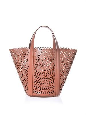 New Vienne laser-cut leather tote