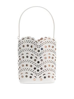 New Vienne laser-cut leather bucket bag