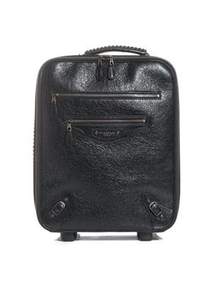 Stud detail leather suitcase