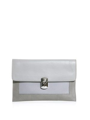 The padlock envelope clutch