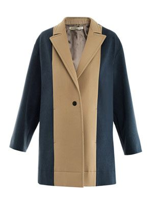 Bi-colour bonded-cotton coat