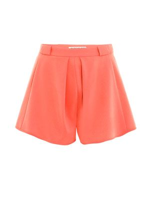 Fluid crepe shorts