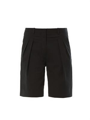 Textured cotton Bermuda shorts
