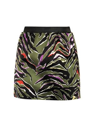 Zebra electro-pop print skirt