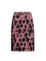 Jacquard snake pencil skirt
