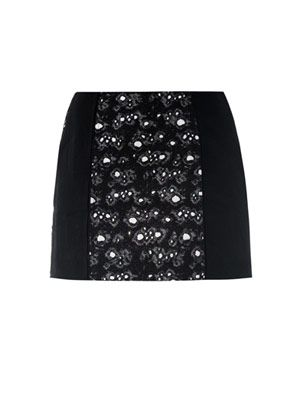 Dentelle mercure tweed skirt