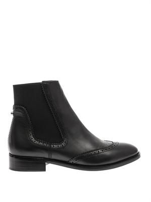 Brogues leather chelsea boots