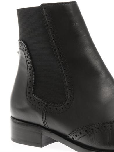 Balenciaga Brogues leather chelsea boots