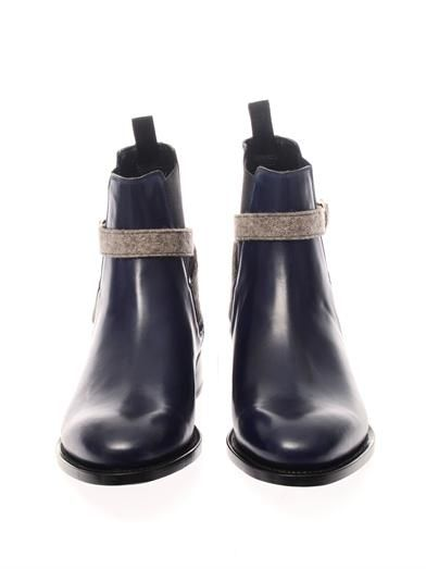 Balenciaga Bi-colour leather chelsea boots