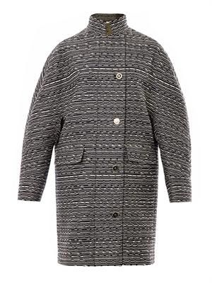 Cristobal layered tweed coat