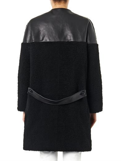 Balenciaga Shearling and leather coat