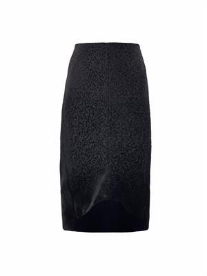 Flocked dégradé pencil skirt