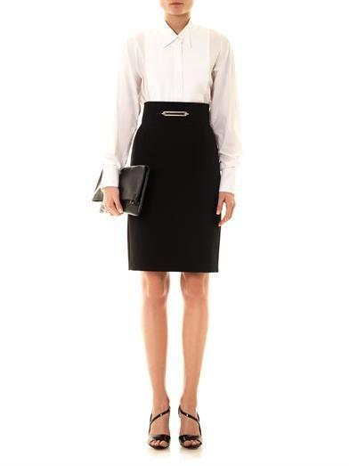 Balenciaga Wool crepe pencil skirt