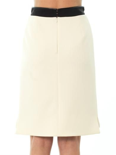 Balenciaga Bonded-crepe pencil skirt