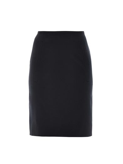 Balenciaga Stretch wool pencil skirt