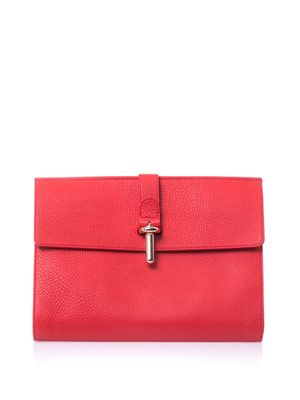 The Tube Pochette leather clutch