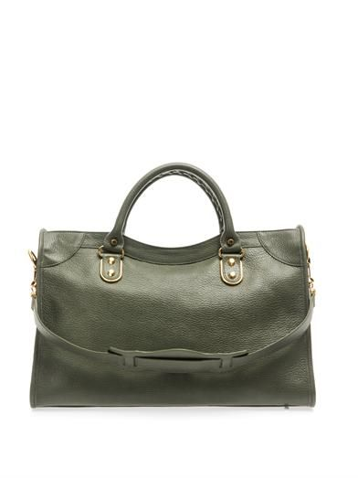 Balenciaga Classic City edge-line leather tote