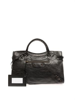 Classic City leather tote