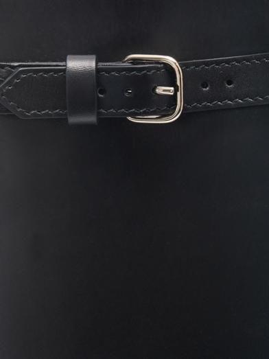 Balenciaga Padlock Nude Work snakeskin-handle tote