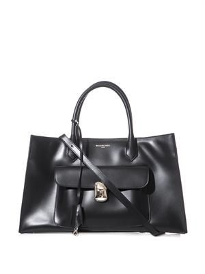 Padlock Work large leather tote