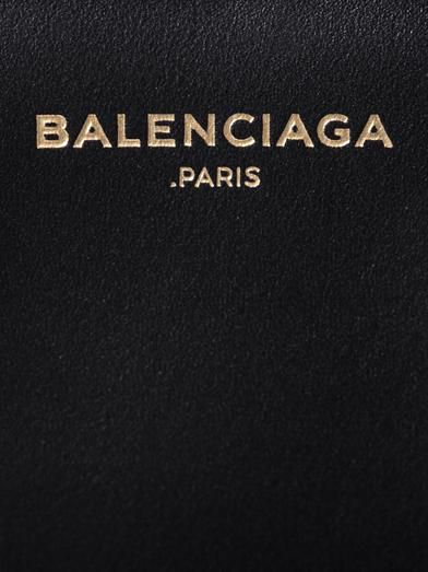 Balenciaga Padlock Work large leather tote