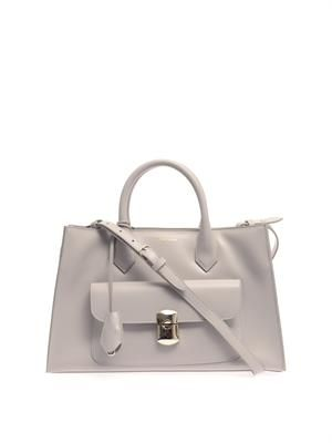 Padlock Work leather tote