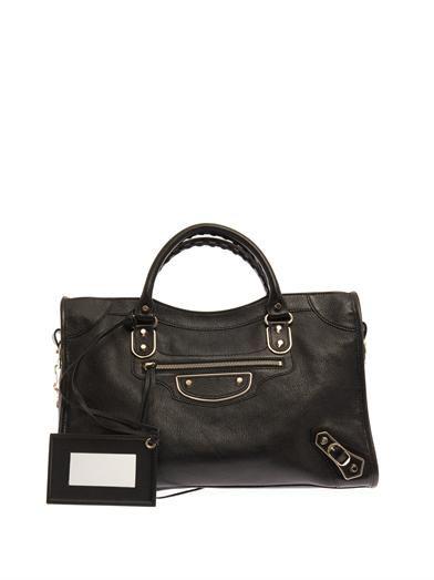 Balenciaga Classic City edge-line leather tote