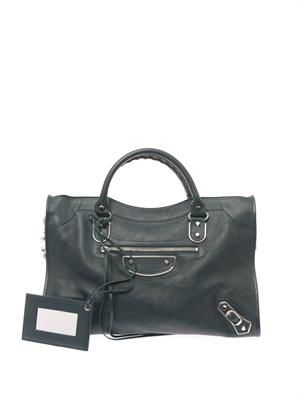 Classic City edge-line leather tote