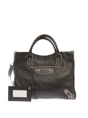 Classic Velo edge-line leather tote