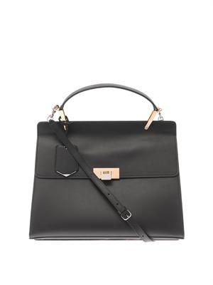 Le Dix Cartable M leather tote